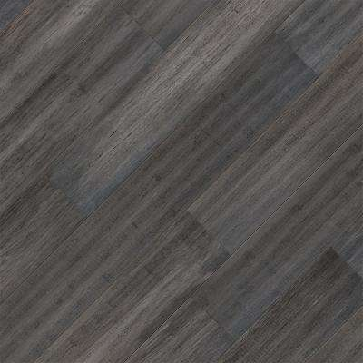 Take Home Sample - Hand Scraped Strand Woven Cadence Click Lock SPC WR Bamboo Flooring 5 in. x 7 in.