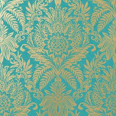 8 in. x 10 in. Signature Teal Damask Sample