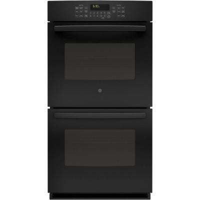 27 in. Double Electric Wall Oven Self-Cleaning with Steam Plus Convection in Black