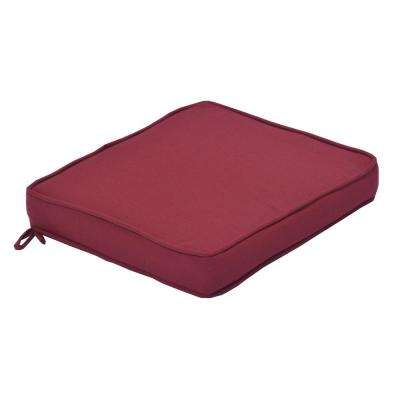 CushionGuard Chili Square Outdoor Seat Cushion (2-Piece)