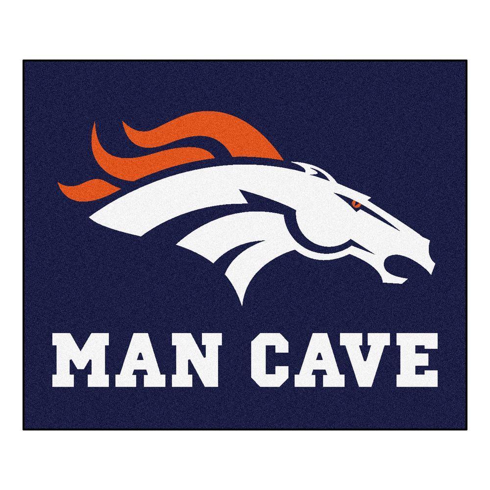 Denver Broncos Blue Man Cave 5 ft. x 6 ft. Area Rug
