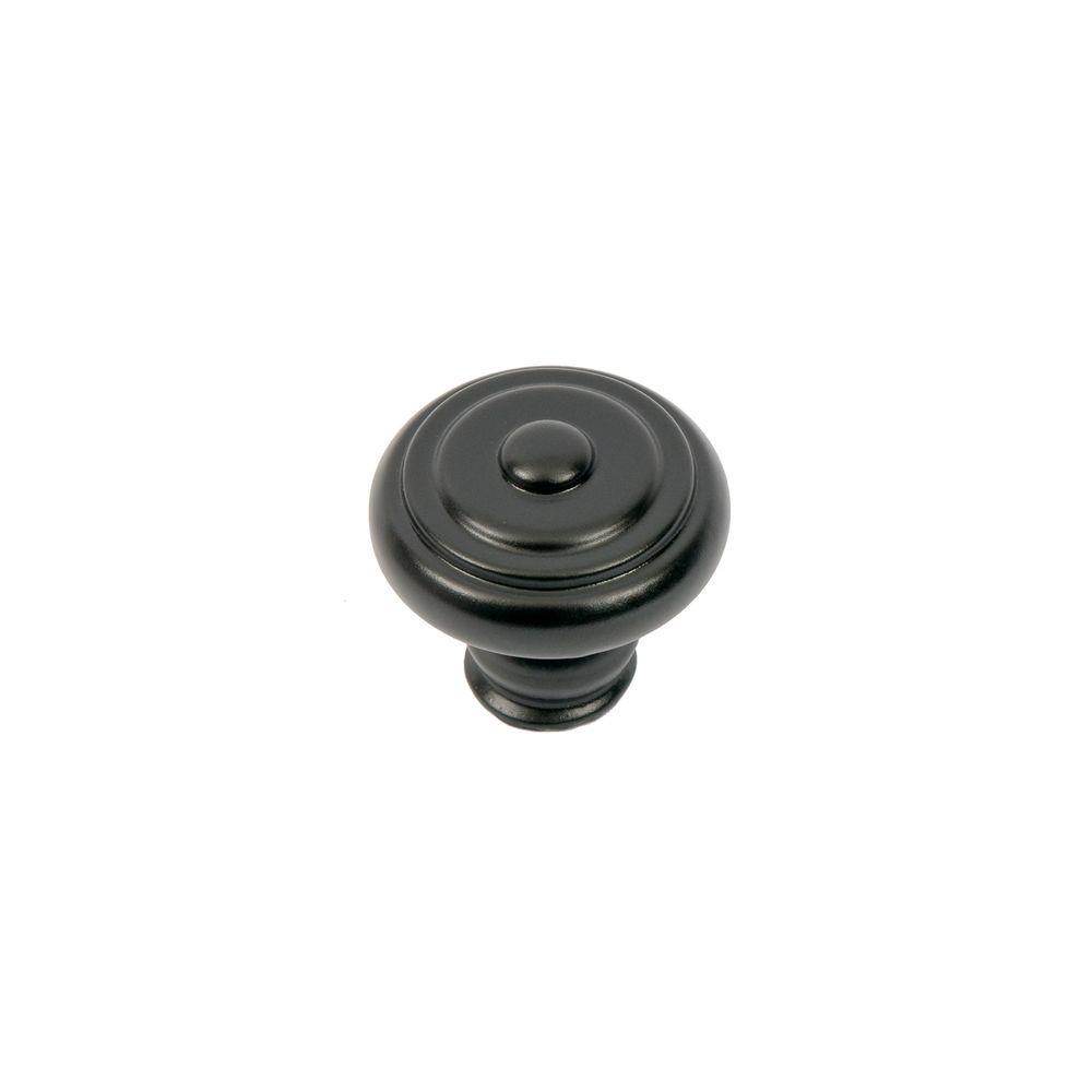 Sumner Street Home Hardware Garner 1-9/16 in. Matte Black Round Cabinet Knob