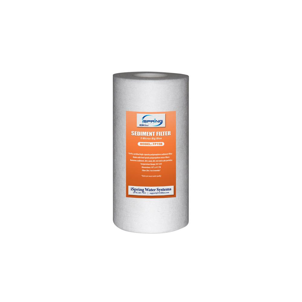 """Big Blue Whole House Water Filter Sediment Filter, 4.5"""" x 10"""""""