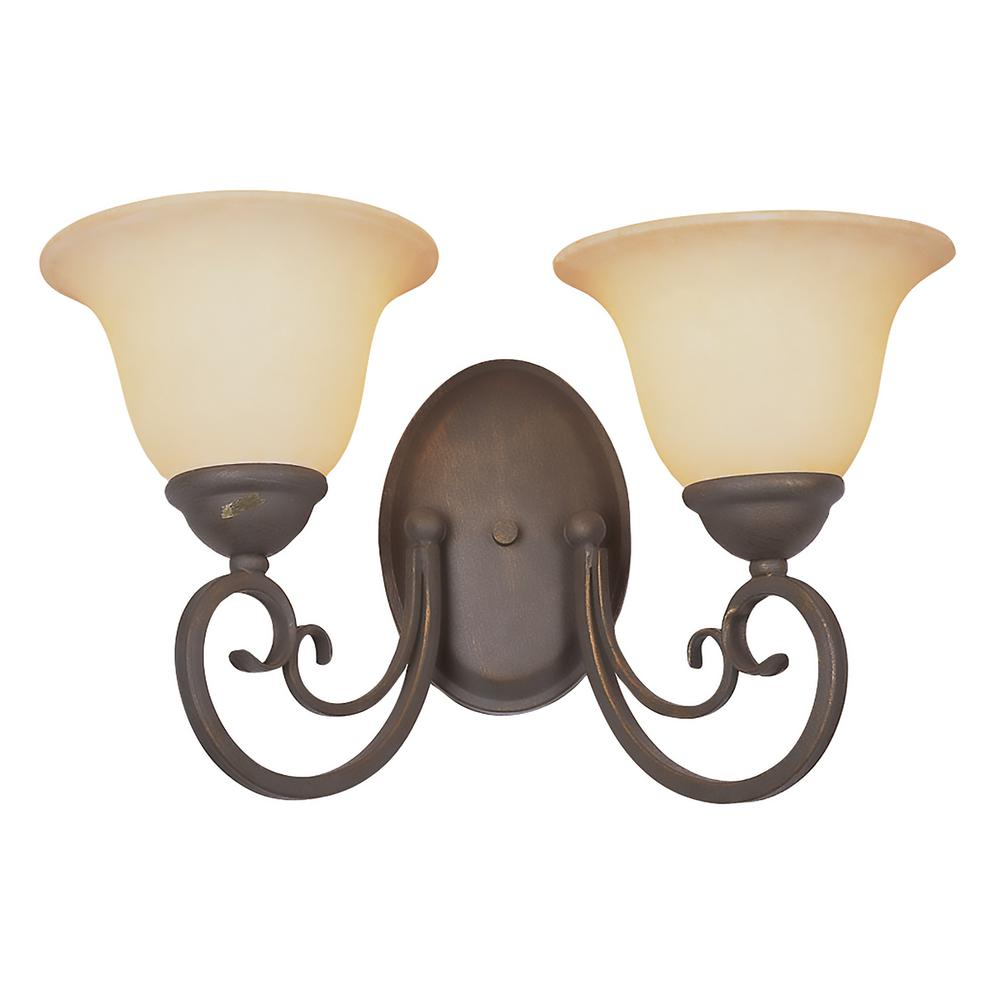 Laredo 2-Light Antique Bronze Sconce
