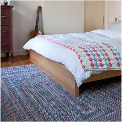 Cabin Floral Burst 7 ft. x 9 ft. Rectangle Braided Area Rug
