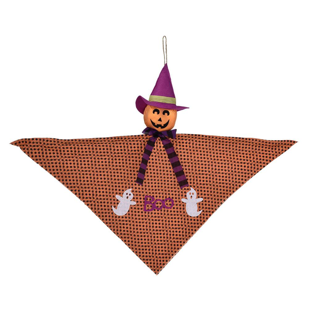 24 in. Halloween Small Jack-O'-Lantern Hanging Decoration (4-Pack)