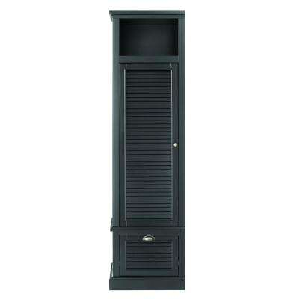 Shutter 43.5 in. H x 15.5 in. W Modular Left Locker Door in Worn Black