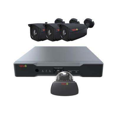 Aero HD 4-Channel 5MP 1TB Surveillance System with 4 Wired Cameras