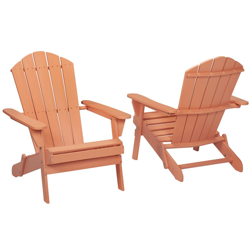Null Nectar Folding Outdoor Adirondack Chair (2 Pack)