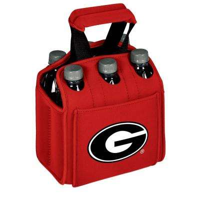 University of Georgia Bulldogs 6-Bottles Red Beverage Carrier