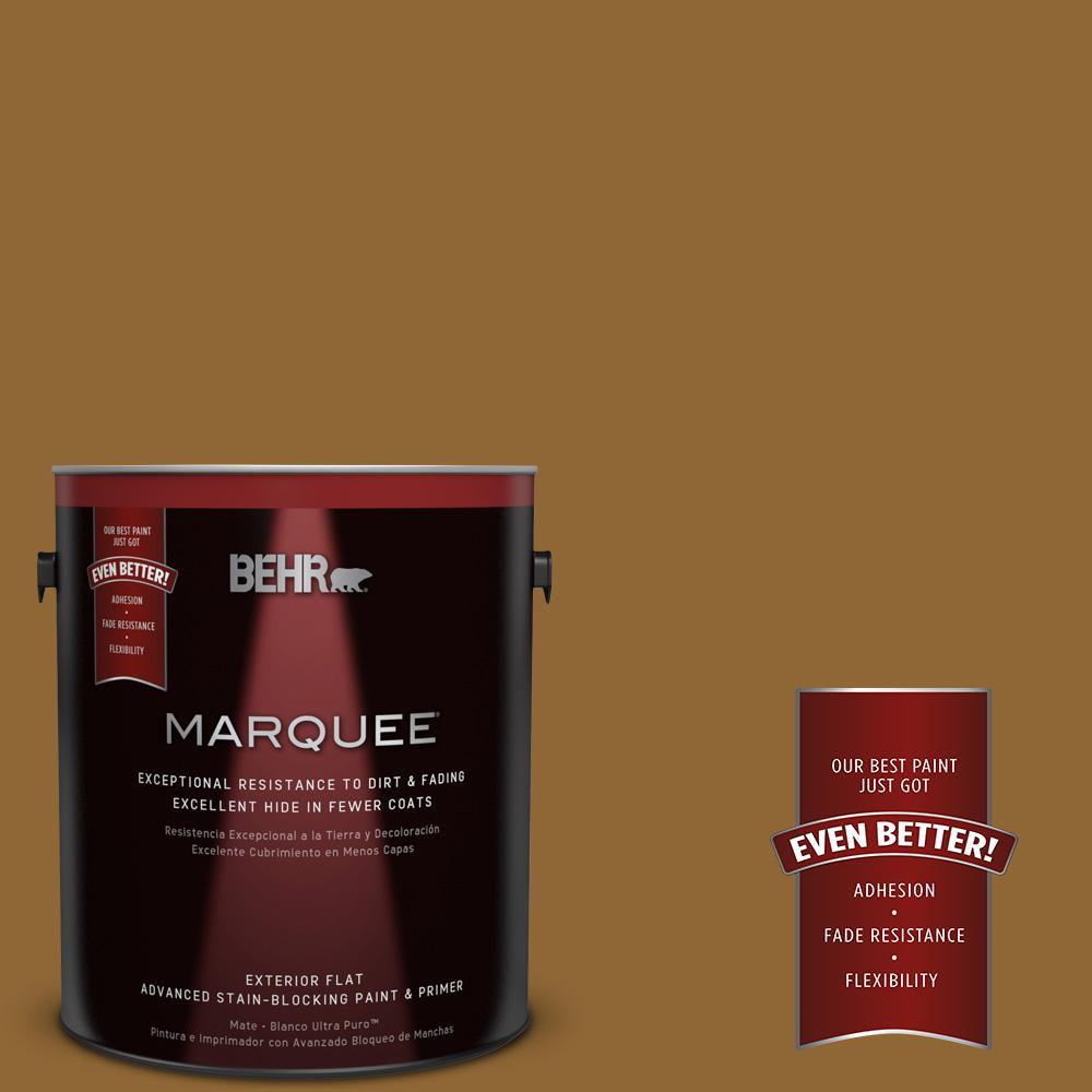 1-gal. #300D-7 Spanish Leather Flat Exterior Paint