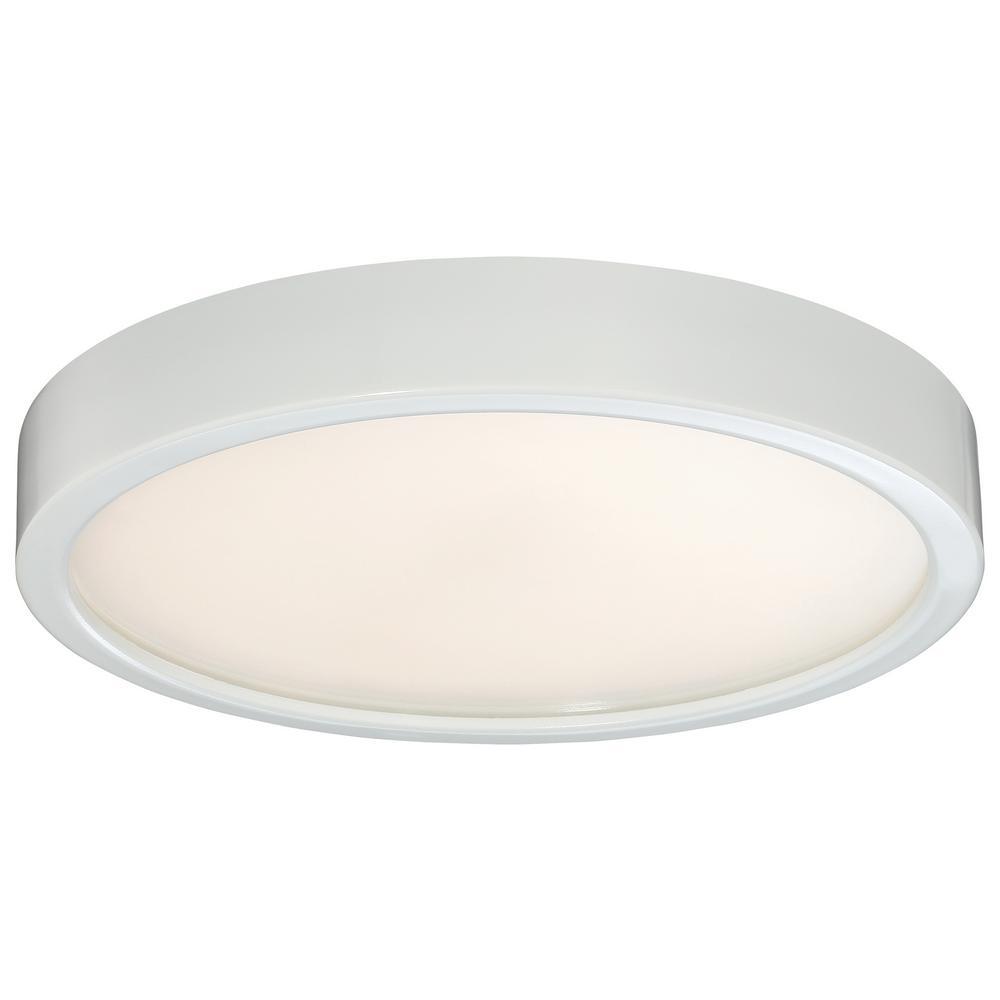75-Watt Equivalent White Integrated LED Flushmount
