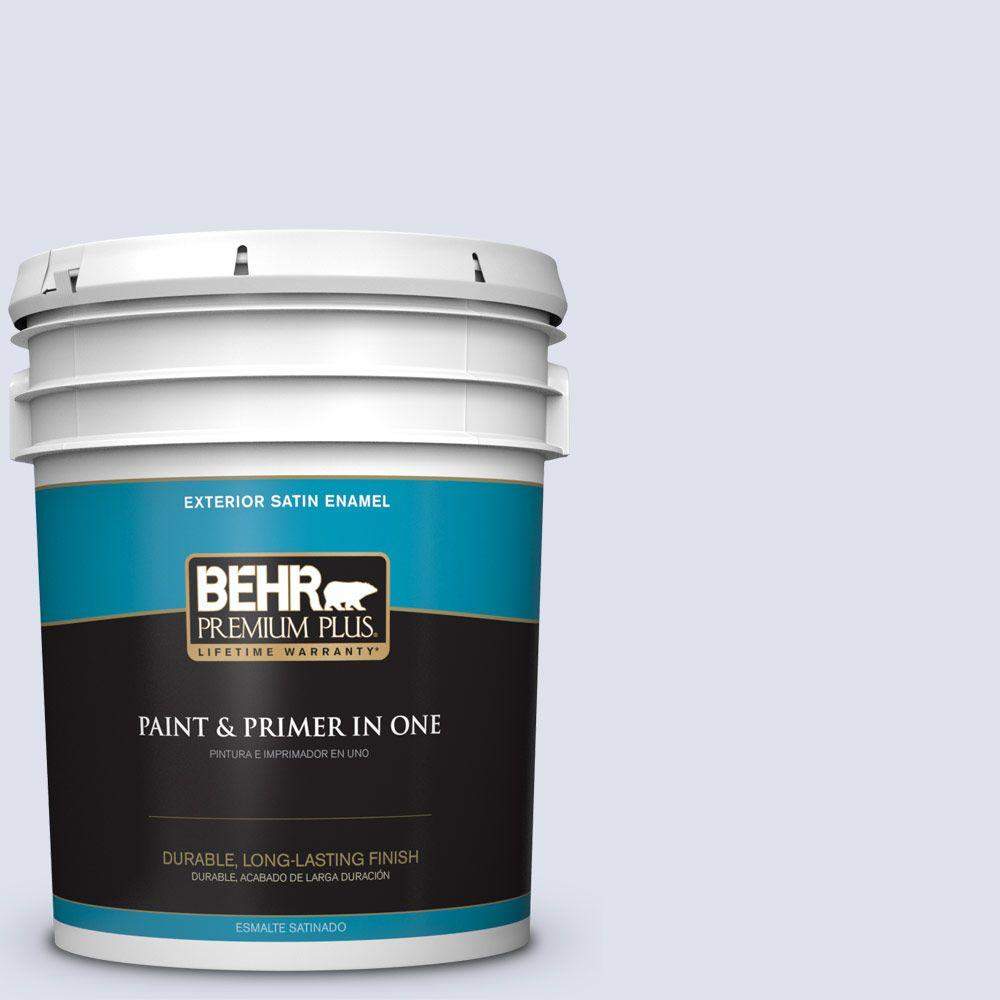 BEHR Premium Plus 5-gal. #600A-1 December Dawn Satin Enamel Exterior Paint