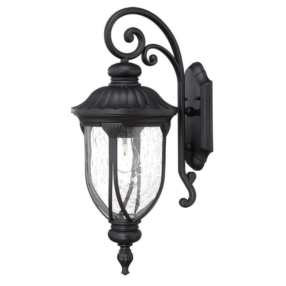 Acclaim Lighting Laurens Collection 1-Light Matte Black Outdoor Wall-Mount Light Fixture