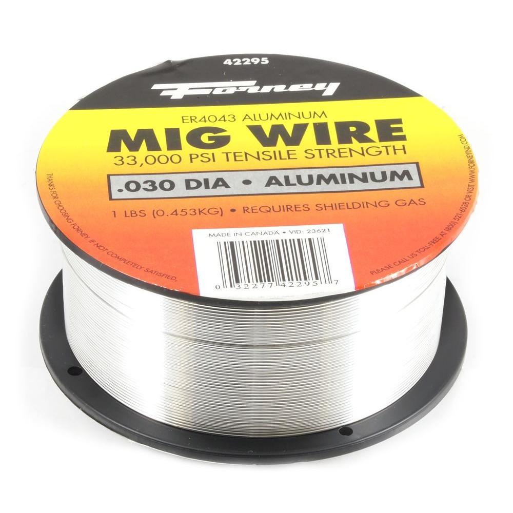 0.030 Dia 4043 Aluminum Alloy MIG Wire 1 lb. Spool