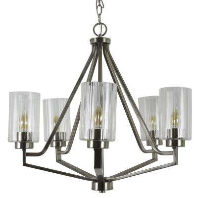 Bolton 5-Light Crystal and Clear Chandelier