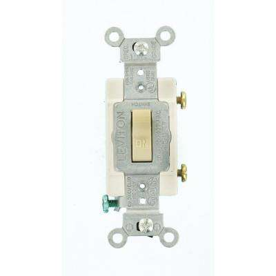 20 Amp Commercial Grade Single-Pole Toggle Switch, Ivory