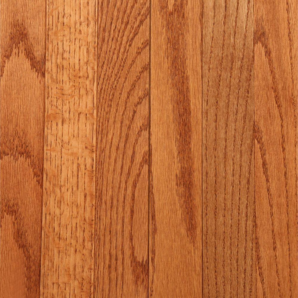 Bruce laurel 3 4 in thick x 2 1 4 in wide gunstock oak for Bruce hardwood flooring