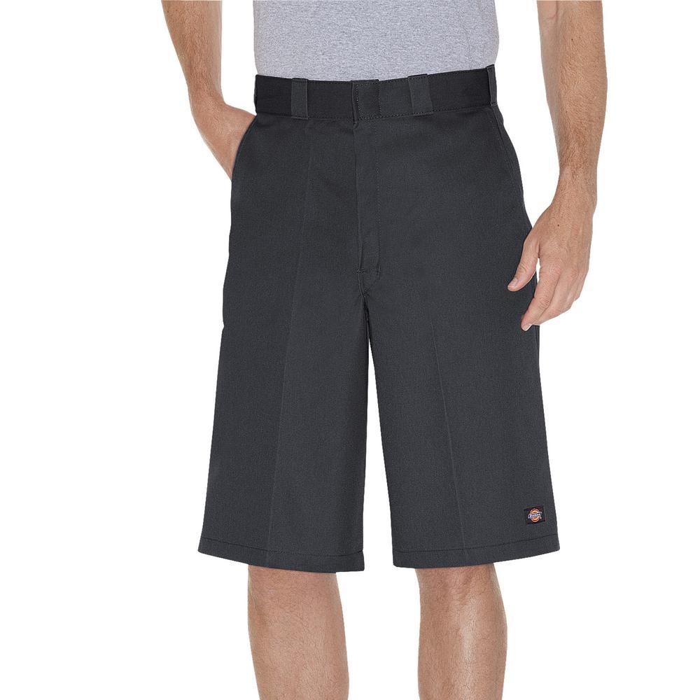 Men's Charcoal 13 in. Loose Fit Multi-Use Pocket Work Short