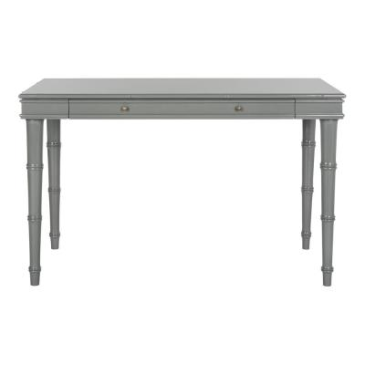 47 in. Rectangular Gray 1 Drawer Writing Desk with Solid Wood Material