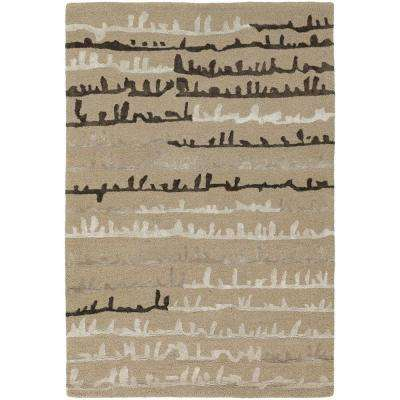 Navyan Tan/Taupe/Brown 7 ft. 9 in. x 10 ft. 6 in. Indoor Area Rug