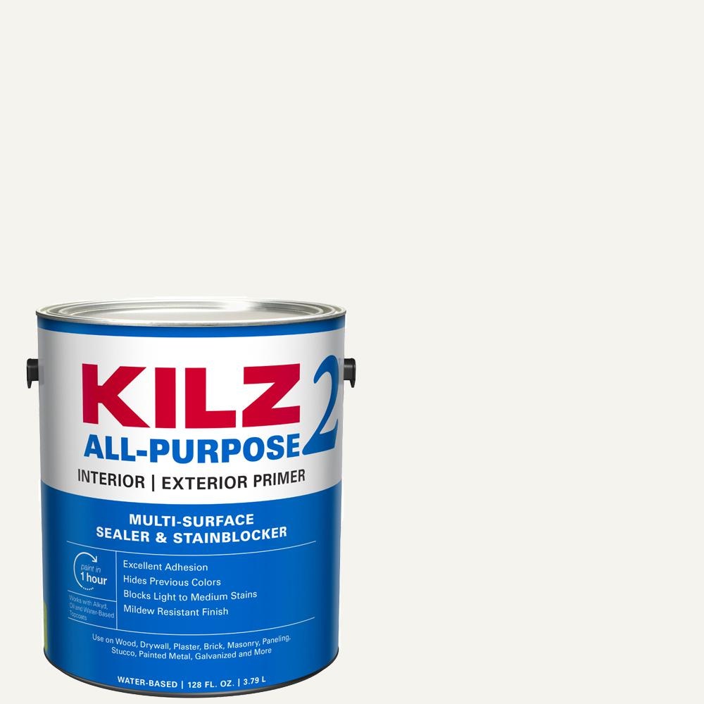 KILZ 2 ALL PURPOSE 1 Gal. White Interior/Exterior Multi-Surface Primer, Sealer, and Stain Blocker