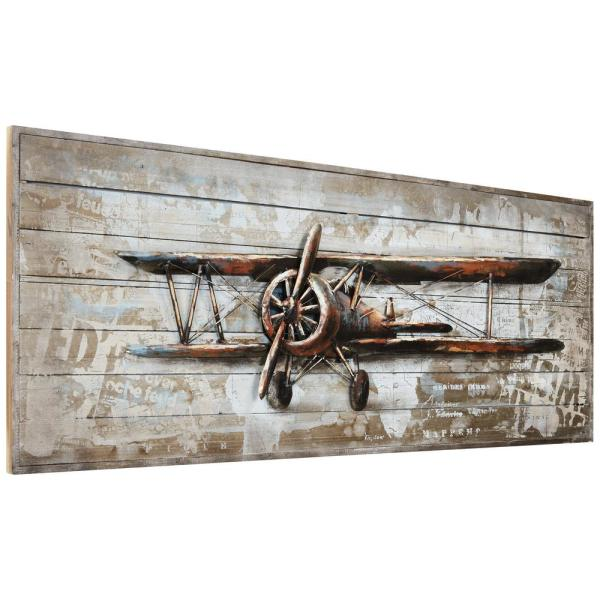 Unbranded Model Airplane Metallic Handed Painted Rugged Wooden