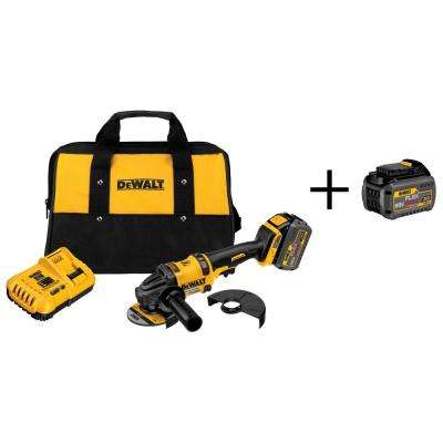 FLEXVOLT 60-Volt Lithium-Ion Cordless 4-1/2 in. Angle Grinder with Bonus FLEXVOLT Battery Pack
