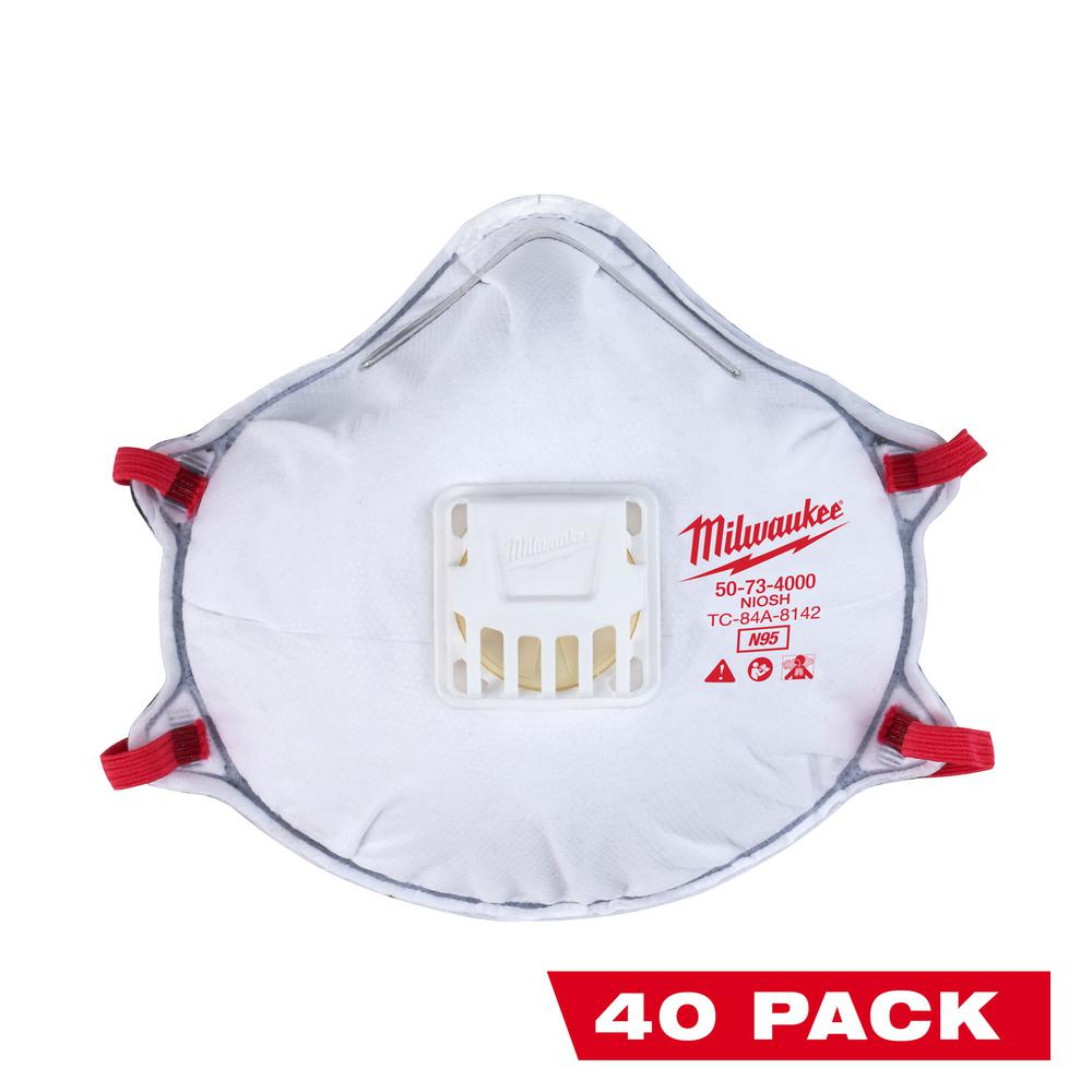 40 pack disposable face mask
