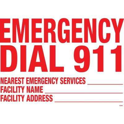 Residential or Commercial Swimming Pool Signs, 911 Facility Info