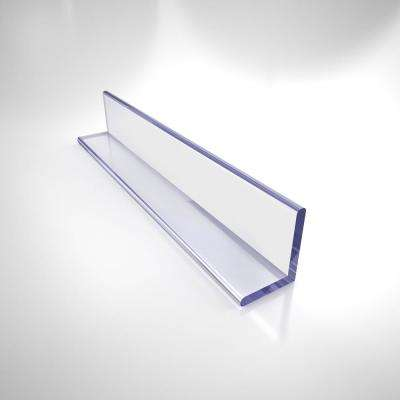 80 in. L Clear L-Strike with Adhesive Backing for 3/8 in. Glass Shower Door