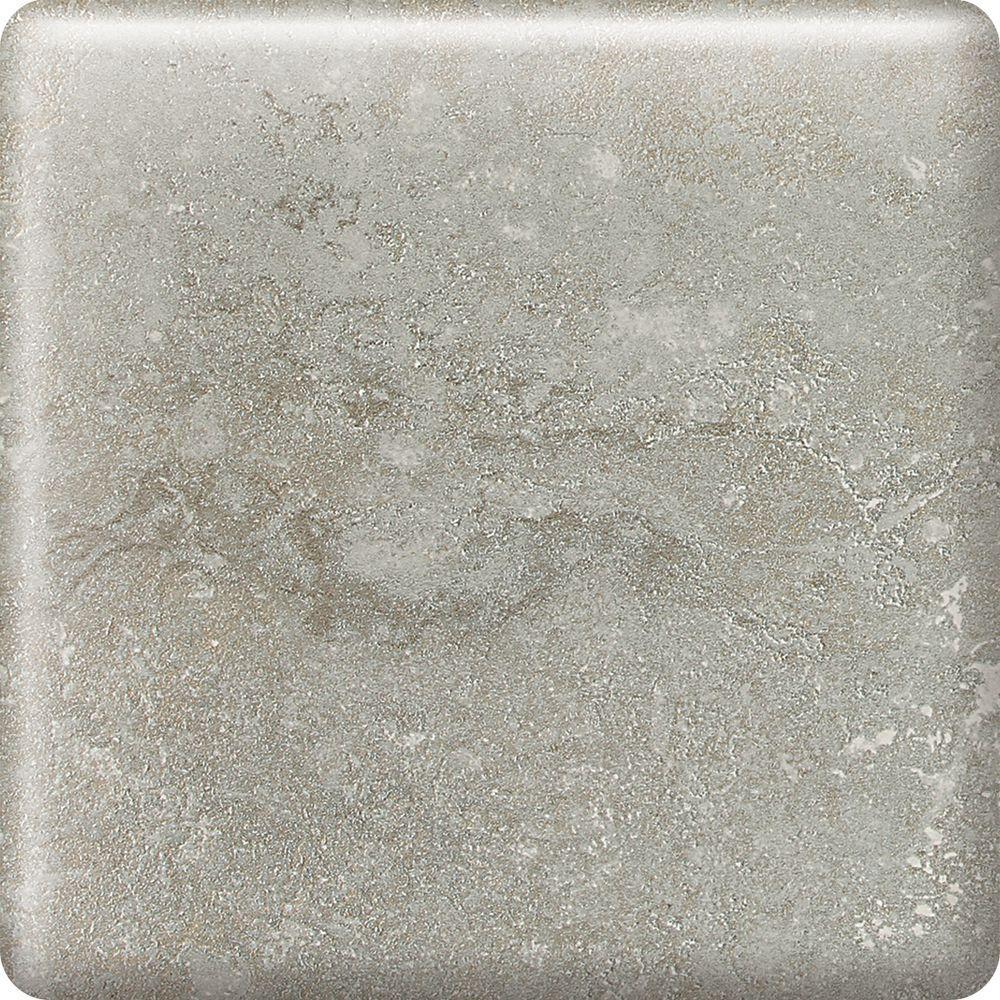 Daltile Sandalo Castillian Gray 2 in. x 2 in. Ceramic Bullnose Corner Wall Tile (0.03 sq. ft. / piece)
