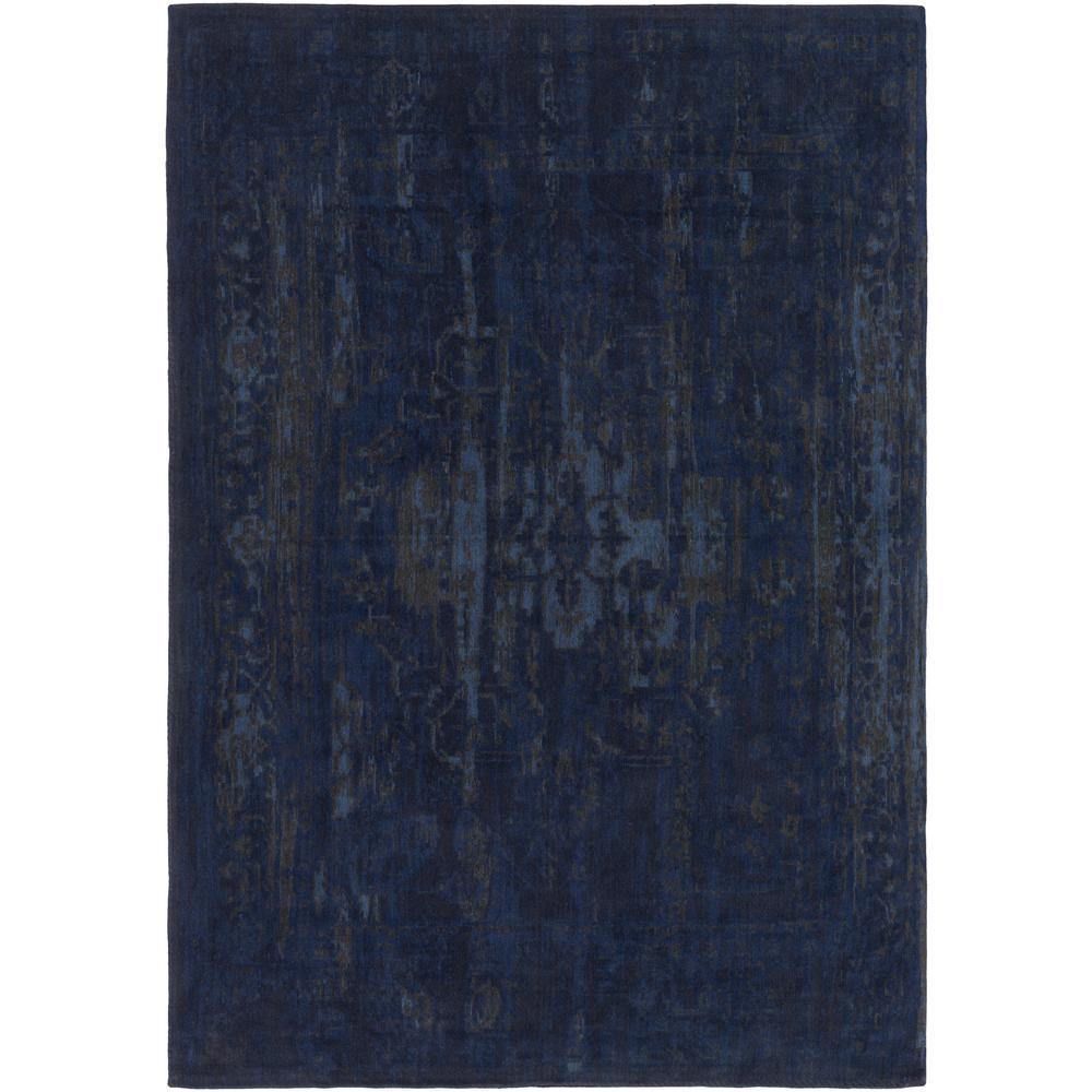 Elegant Maya Navy Blue 8 ft. x 10 ft. Indoor Area Rug