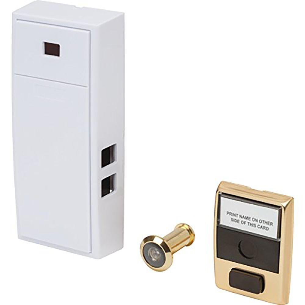 Everyday 2 Note Mechanical Door Bell With Door Button And Separate Door  Viewer Peephole