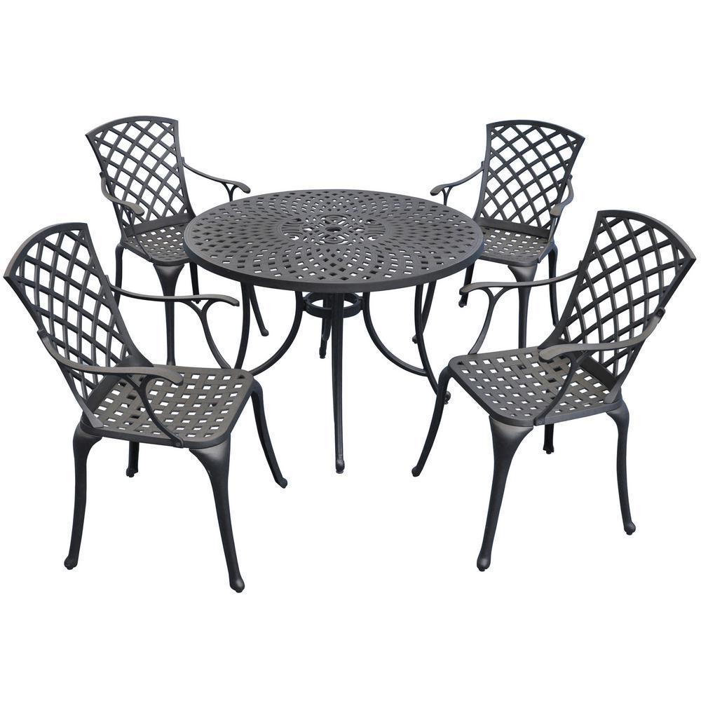 Sedona 5-Piece Aluminum Outdoor Patio Dining Set