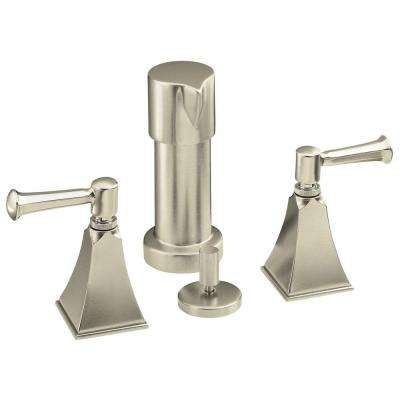 Memoirs 2-Handle Bidet Faucet in Vibrant Brushed Nickel with Stately Design