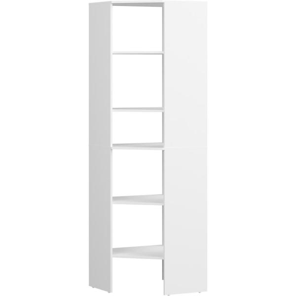 Style+ 25 in. W White Corner Wood Closet Tower