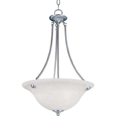 Malaga 3-Light Satin Nickel Invert Bowl Pendant