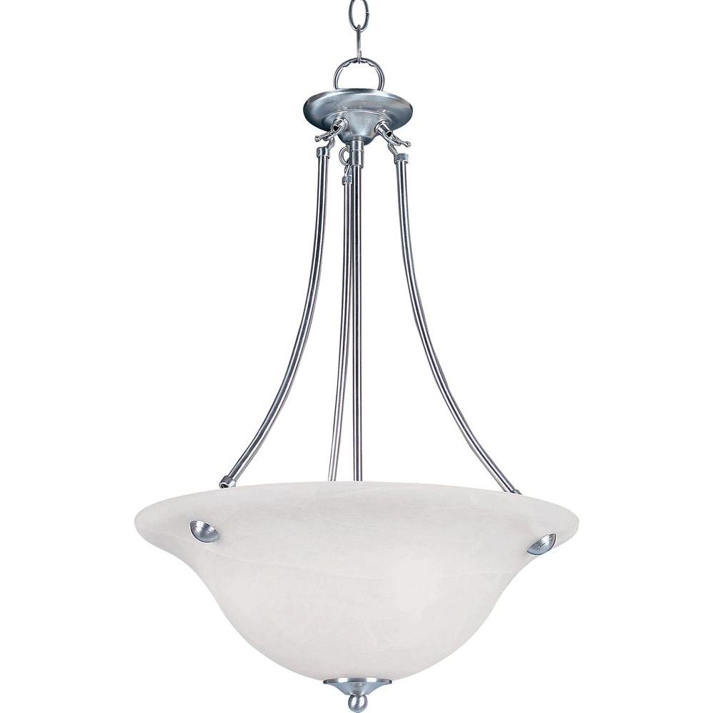 Maxim Lighting Malaga 3 Light Satin Nickel Invert Bowl Pendant