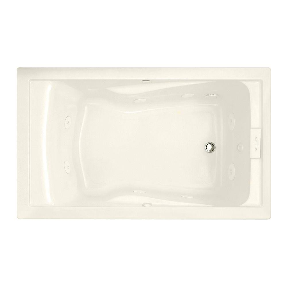 EverClean 60 in. x 36 in. Reversible Drain Whirlpool Tub in
