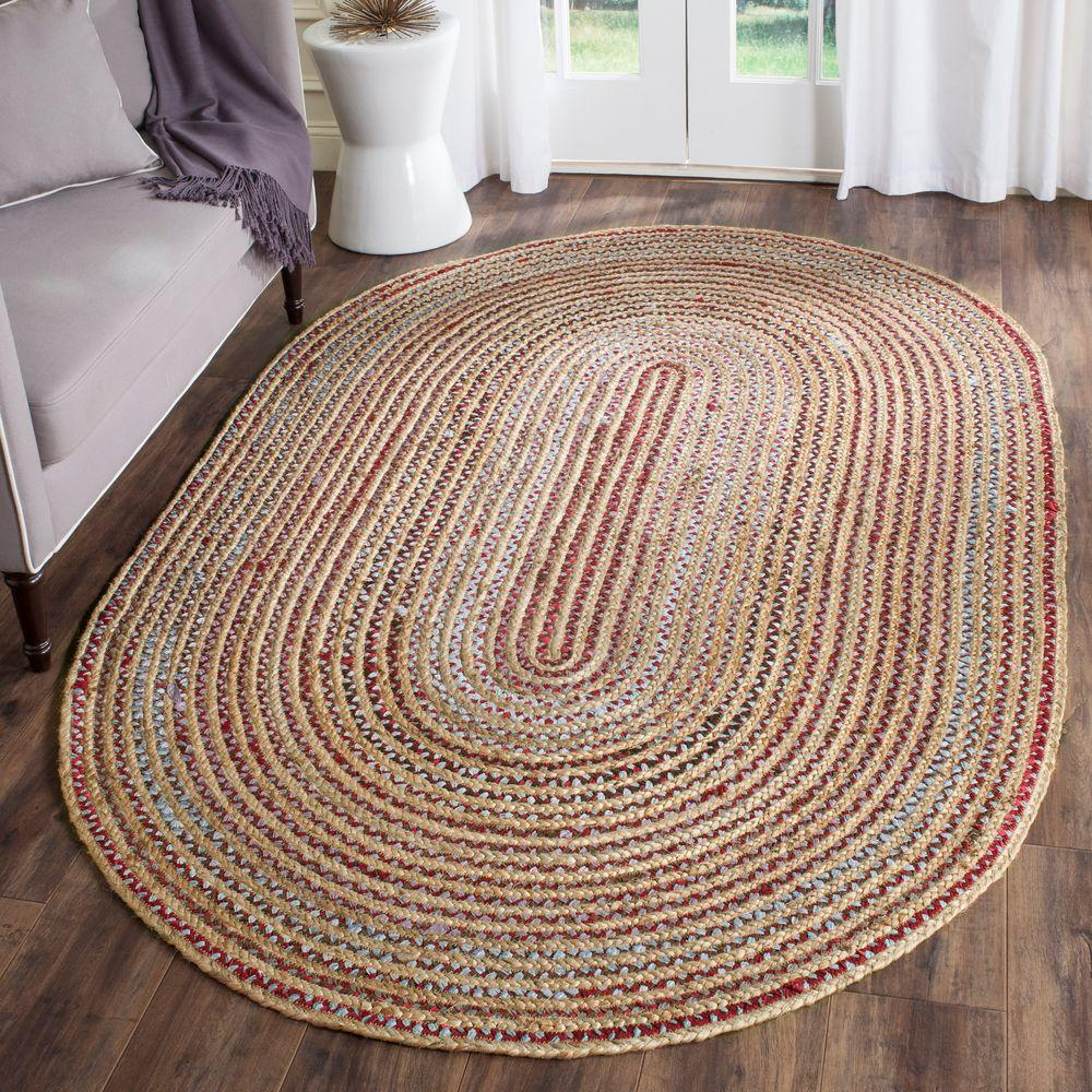 Safavieh Cape Cod Natural/Multi 4 Ft. X 6 Ft. Oval Area