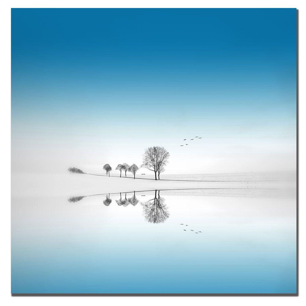 null 14 in. x 14 in. Blue Season Canvas Art-DISCONTINUED