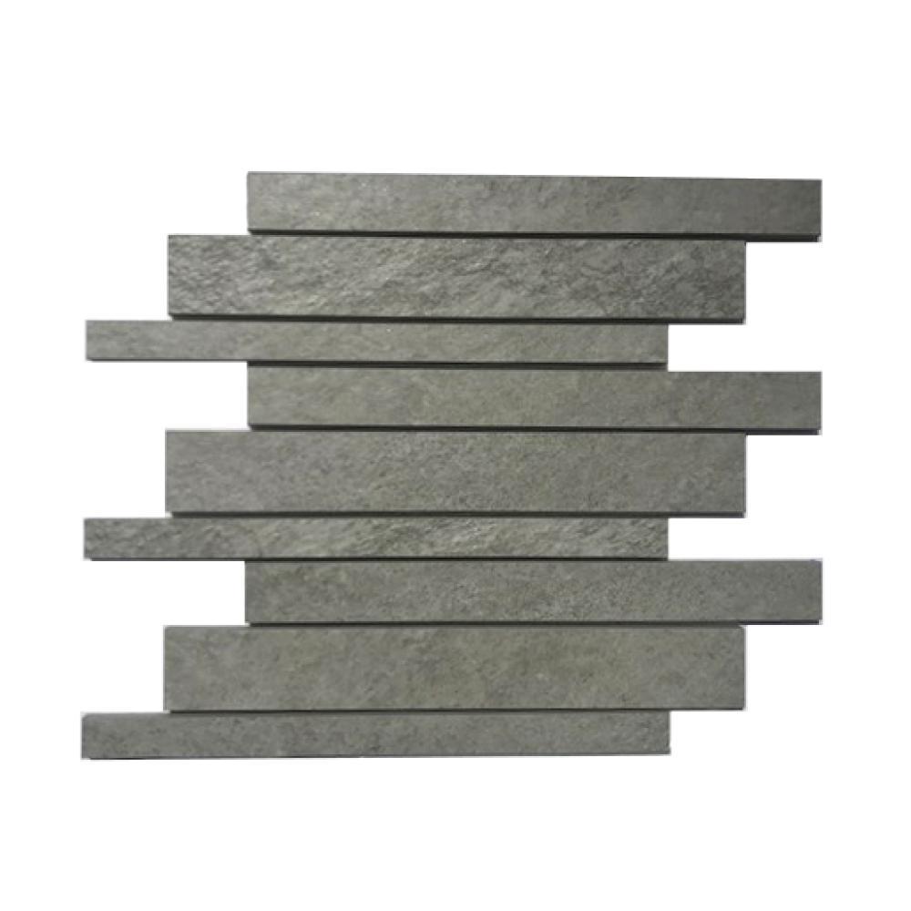 Corso Italia Alpe Silver 12 in. x 12 in. x 9 mm Porcelain Mosaic Tile (0.97 sq. ft. / Each)