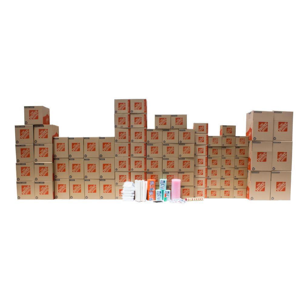 The Home Depot 84-Box 3 Bedroom Moving Box Kit