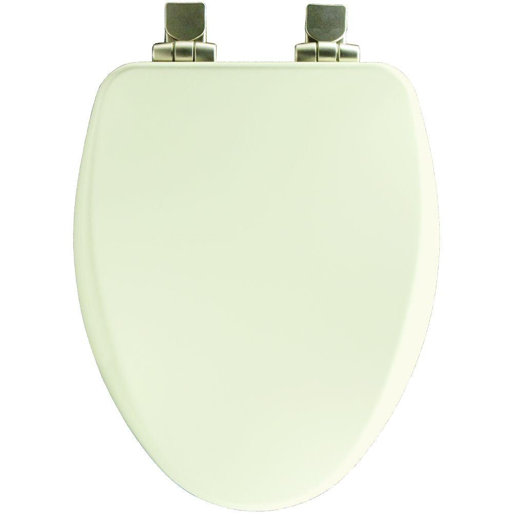 Church Elongated Closed Front Toilet Seat in Biscuit
