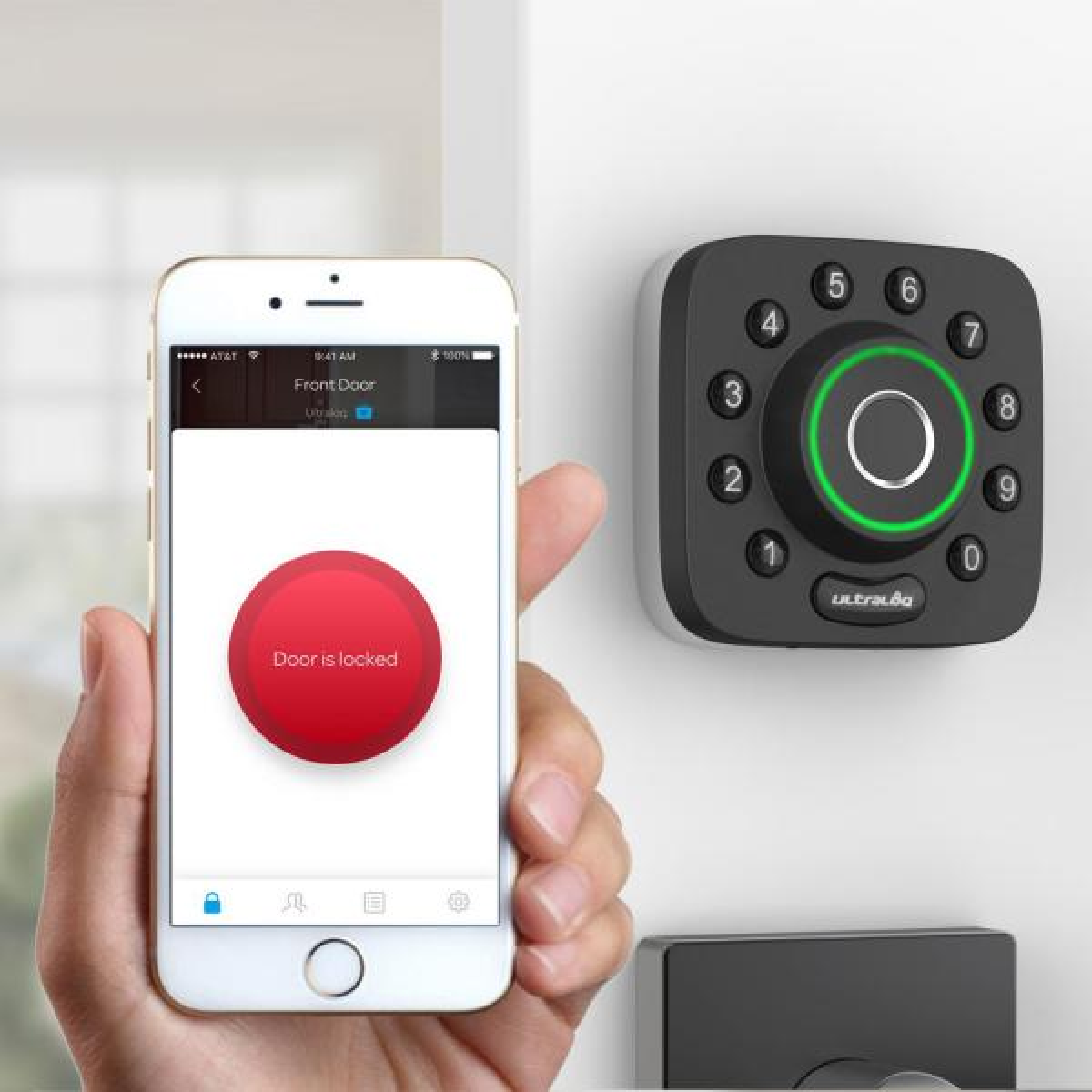 Ultraloq U-Bolt Digital Electronic Deadbolt Bluetooth Keyless Code Door Lock