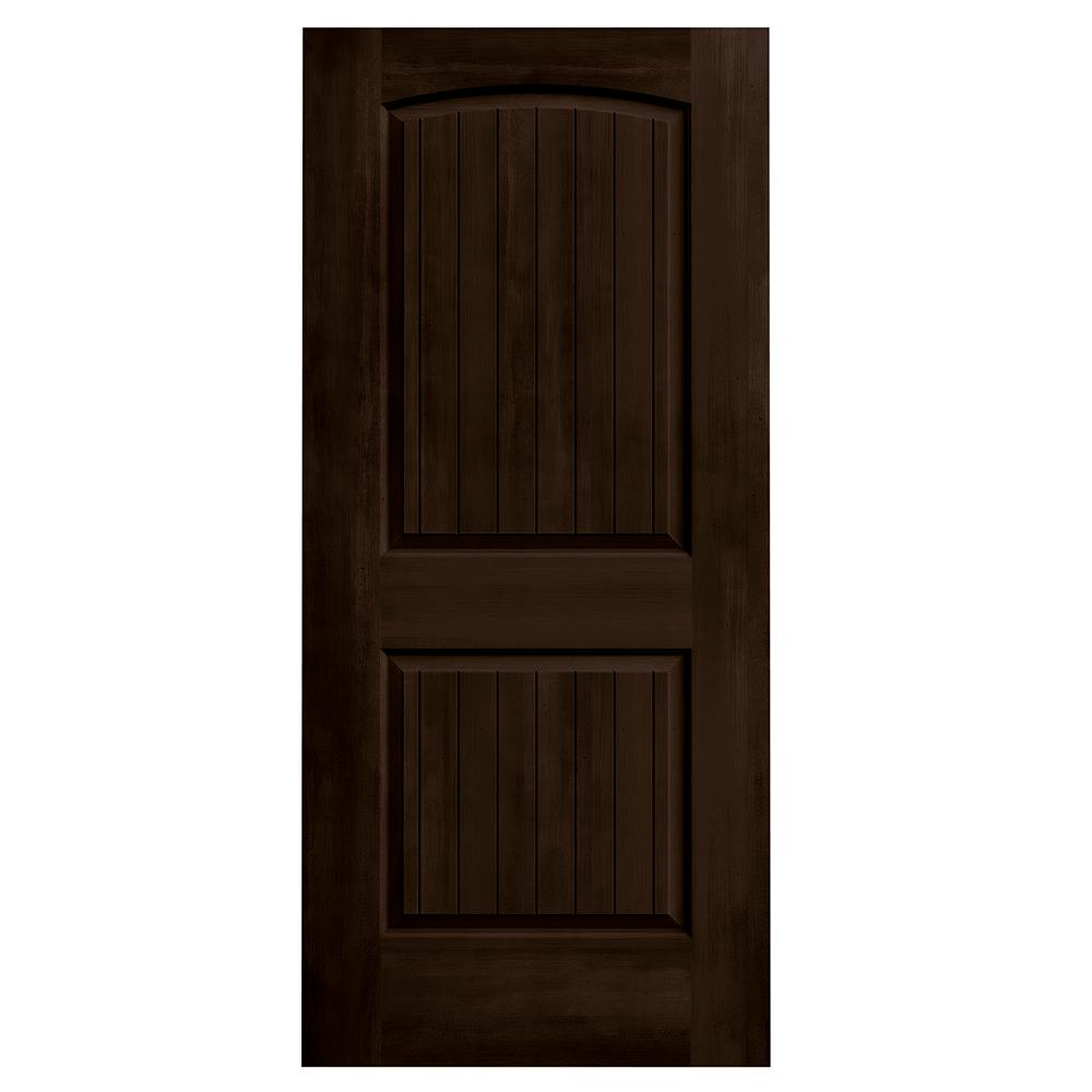 Jeld wen 36 in x 80 in santa fe espresso stain solid for Solid core mdf interior doors