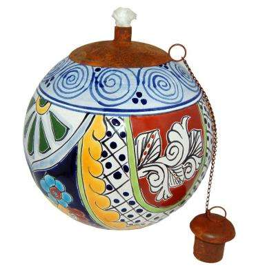 Talavera Dolores Design Table Top Torch