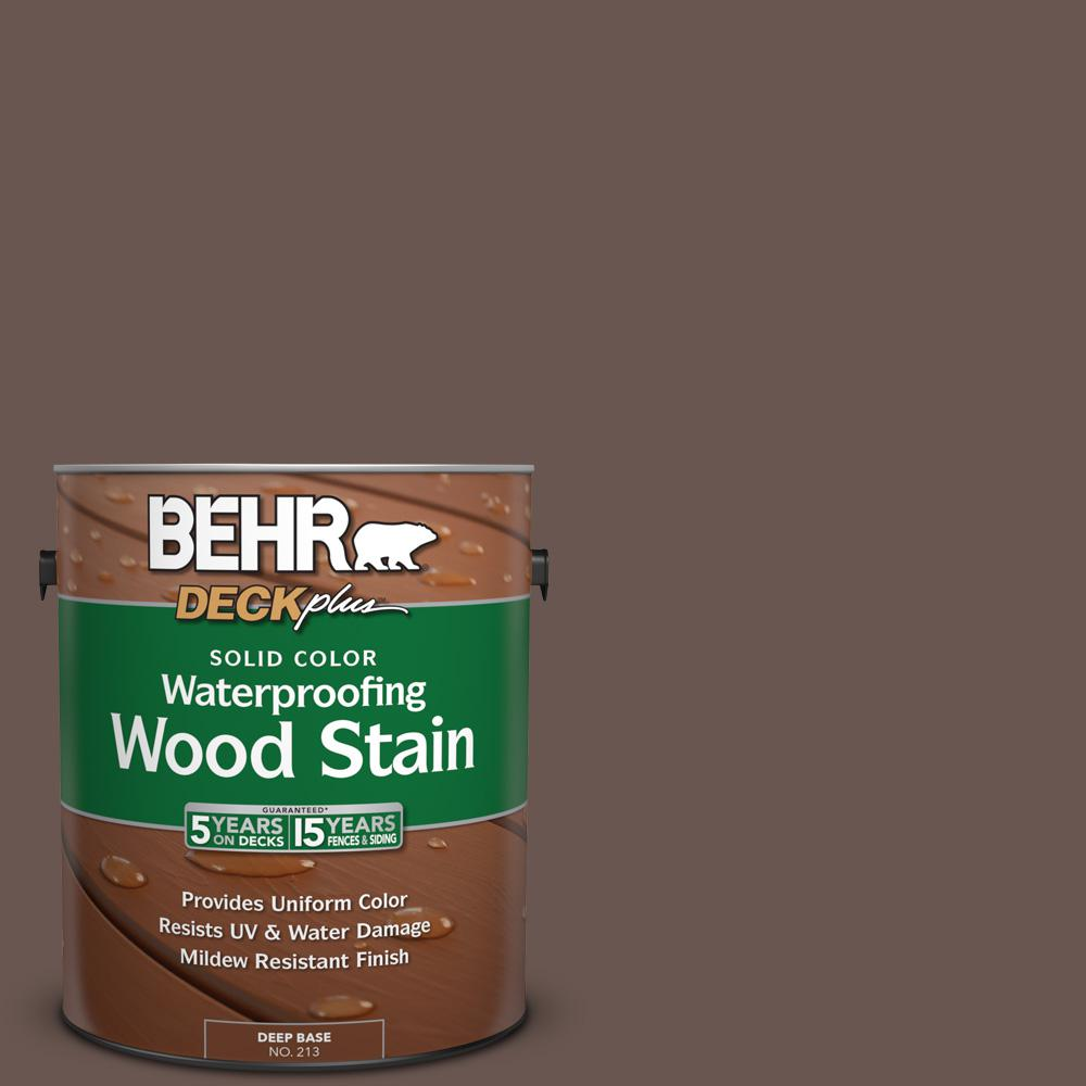 1 gal. #N180-7 Oiled Teak Solid Color Waterproofing Wood Stain