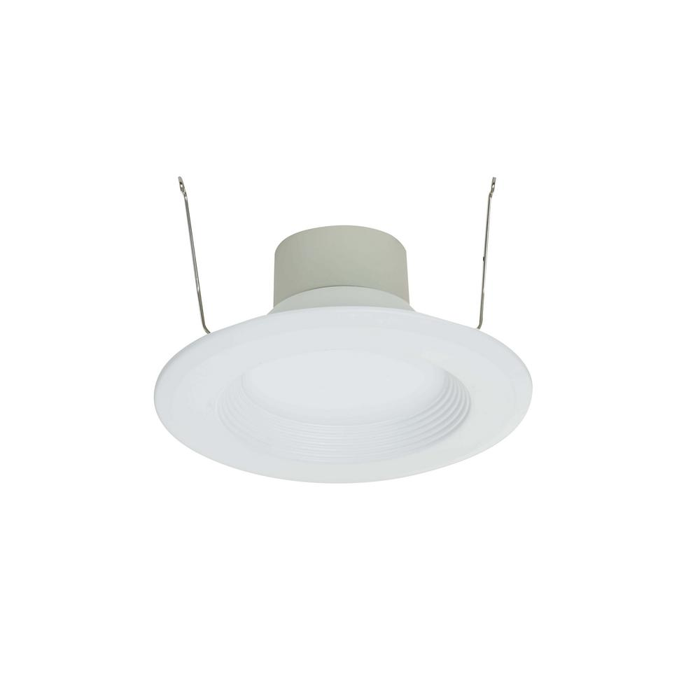 5-6 in. White Integrated LED Retrofit Recessed Kit includes Backup Battery
